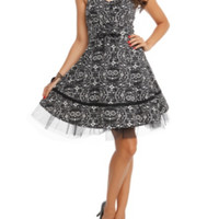 The Book Of Life Printed Halter Swing Dress