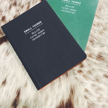 NAVA SMALL THINGS Notebook in Black or Green
