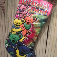 Grateful Dead Dancing Bears Christmas Stocking