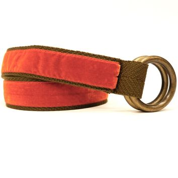 Orange Velvet Belt by One Magnificent Beast