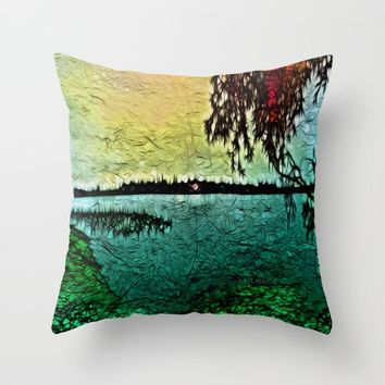 :: Lake View :: Throw Pillow by :: GaleStorm Artworks ::