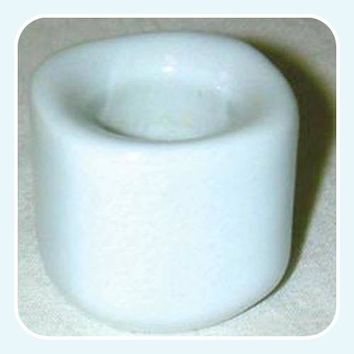 White Ceramic Chime Candle Holder