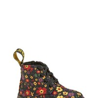 Toddler Girl's Dr. Martens 'Laney' Floral Print Canvas Boot