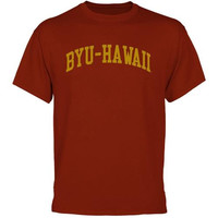 BYU-Hawaii Seasiders University Arch T-Shirt - Crimson