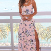 Pink Floral Two Piece Set