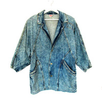 80's Acid Wash Oversized Denim Jacket