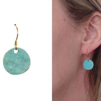 Turquoise Circle Earrings-Perfect Gifts
