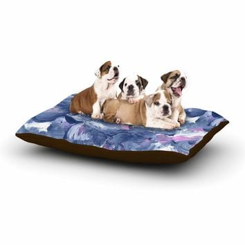 "Danii Pollehn ""Swirly Blue"" Blue Pink Painting Dog Bed"