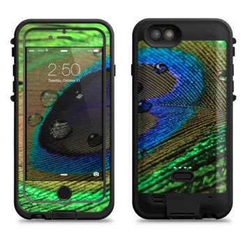 The Watered Neon Peacock Feather  iPhone 6/6s Plus LifeProof Fre POWER Case Skin Kit