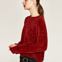 CROPPED ROUND NECK SWEATER DETAILS