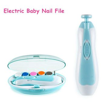 Baby Nail File, Morcare Safe Baby Nail Clippers Grooming Kits for Newborn or Toddler Toes and Fingernails Care, Polish and Trim Manicure Set (Blue)