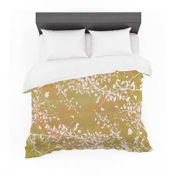 "Iris Lehnhardt ""Twigs Silhouette Neutral"" Earthy Featherweight Duvet Cover"
