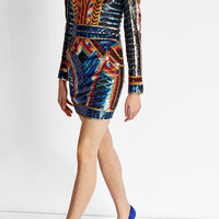 Sequin Mini Dress - Balmain | WOMEN | US STYLEBOP.COM