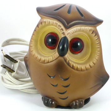 Small Josef Originals Owl Vintage Night Light