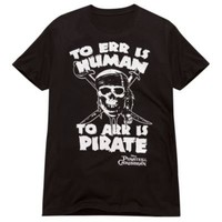 ''To Err Is Human...'' Pirates of the Caribbean Tee for Adults | Tees | Disney Store