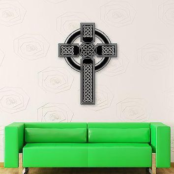 Wall Stickers Vinyl Decal Ireland Celtic Cross Religion Culture Unique Gift (ig1732)