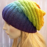 knitted multicolor kauni lace beani cap/hat