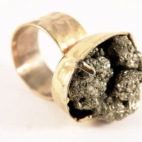 Nu Bambu — Mercury Pyrite Ring