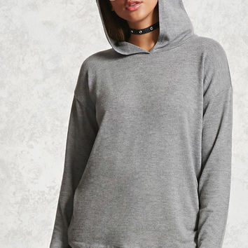 Heathered Knit Hooded Top