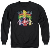 Power Rangers - Rangers Unite Adult Crewneck Sweatshirt