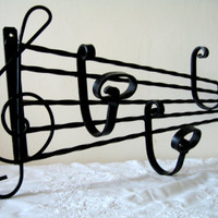 Vintage French Wrought Iron Coat/Hat Rack