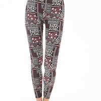 Mixed Print Leggings