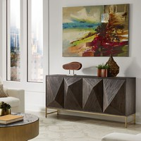 Moffit Antique Gold Finish Reclaimed Wood Buffet by iNSPIRE Q Bold   Overstock.com Shopping - The Best Deals on Buffets