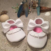 Vanity White Mary Janes