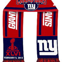 NFL New York Giants Super Bowl XLVI Champions Striped Scarf - Dick's Sporting Goods