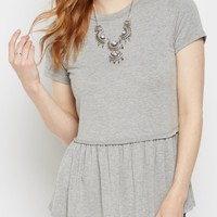 Heather Gray Peplum Tee | Shirts | rue21