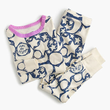 crewcuts Girls Glow-In-The-Dark Over The Moon Pajama Set