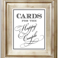 Cards For the Happy Couple 8x10 Card & Gift Table Wedding Sign Customized Personalized Typography Art Print