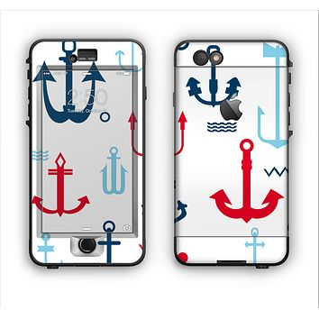 The Various Anchor Colored Icons Apple iPhone 6 Plus LifeProof Nuud Case Skin Set