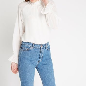 Full Factor Long Sleeve Chiffon Blouse