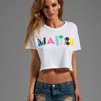 Lovers + Friends Cropped Graphic Tee in Malibu