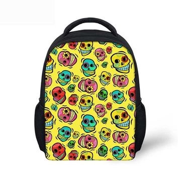 Toddler Backpack class Noisydesigns Dokuro Schoolbag Backpack Toddler Girls Boys Small cute colorful yellow Shoulder Book Bag for Kindergarten Hot New AT_50_3