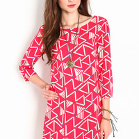 MOD TRIANGLES SHIFT DRESS