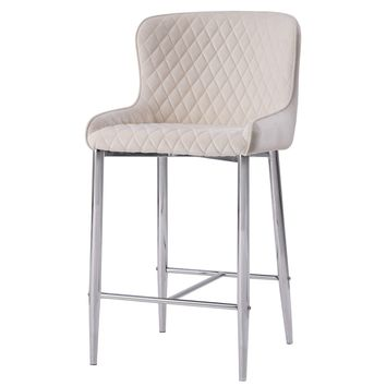 Miles Velvet Fabric Counter Stool Conrad Beige (Set of 2)
