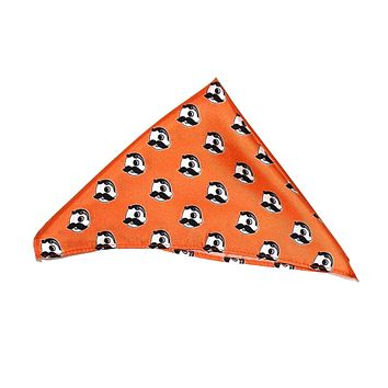 b9552f5d Route One Apparel $18.00. Embroidered Natty Boh Logo Pattern (Orange) /  Pocket Square