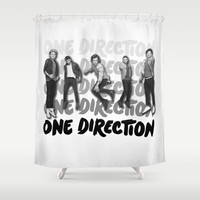 One Direction B&W Shower Curtain by dan ron eli