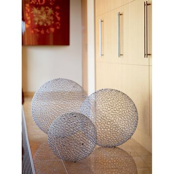 3 Piece Huge Iron Decorative Ball Set