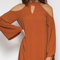 Fall Beauty Dress - Caramel