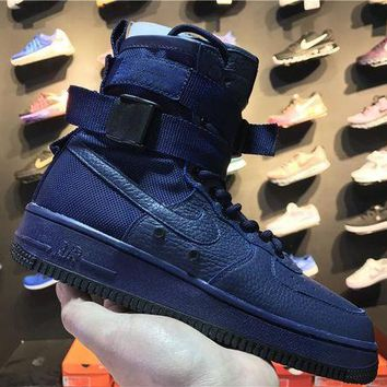 ONETOW VAWA Nike Special Forces Air Force 1 High 857872-400 Boots Blue