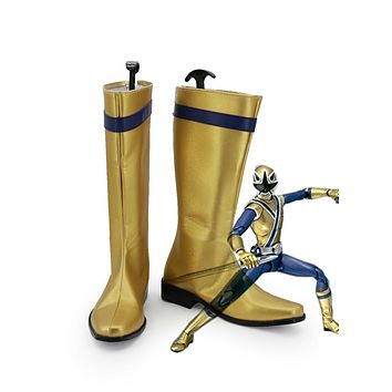 Anime Samurai Sentai Shinkenger Cosplay Shoes Boots For Men Boys