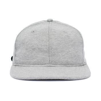 Mid Weight Terry 6 panel Cap (Heather Grey)