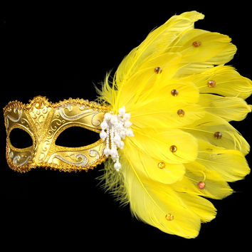 Turkey feather Mask Masquerade Costume  Halloween Female Upper Half Face Fancy Dress Ball Party  cosplay