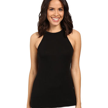 Michael Stars Slub Halter Tank Top Black - Zappos.com Free Shipping BOTH Ways