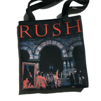Rush Tote Bag Upcycled T-shirt Bag Rush Band Bag