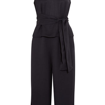 Iris and Ink Aria belted piqué jumpsuit – 0% at THE OUTNET.COM
