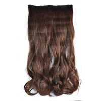 5 Cards Hair Extension Wig Long Curled Hair 5C-4B#